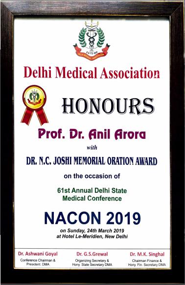 Dr  Anil Arora, Best Knee, Hip & Joint Replacement Surgeon Delhi India
